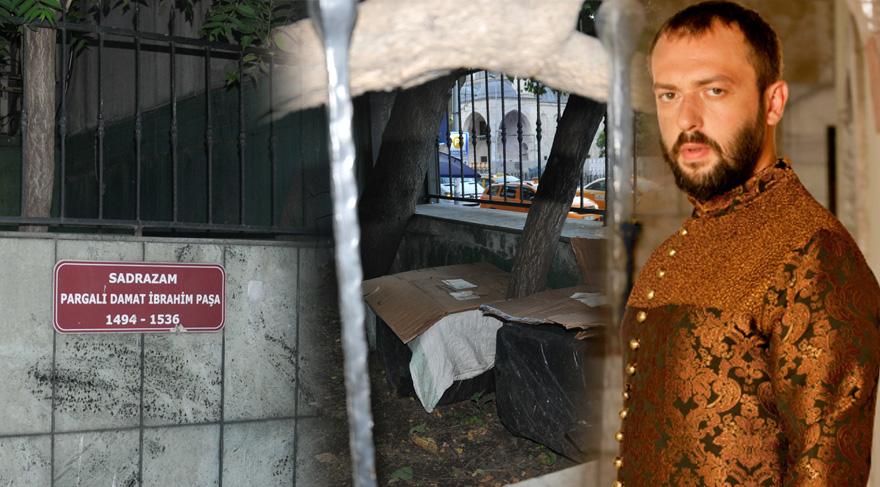 Pargalı İbrahim Paşa'nın mezarı bakımsızlıktan dökülüyor