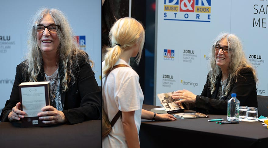 Efsane sanatçı Patti Smith hayranlarıyla buluştu