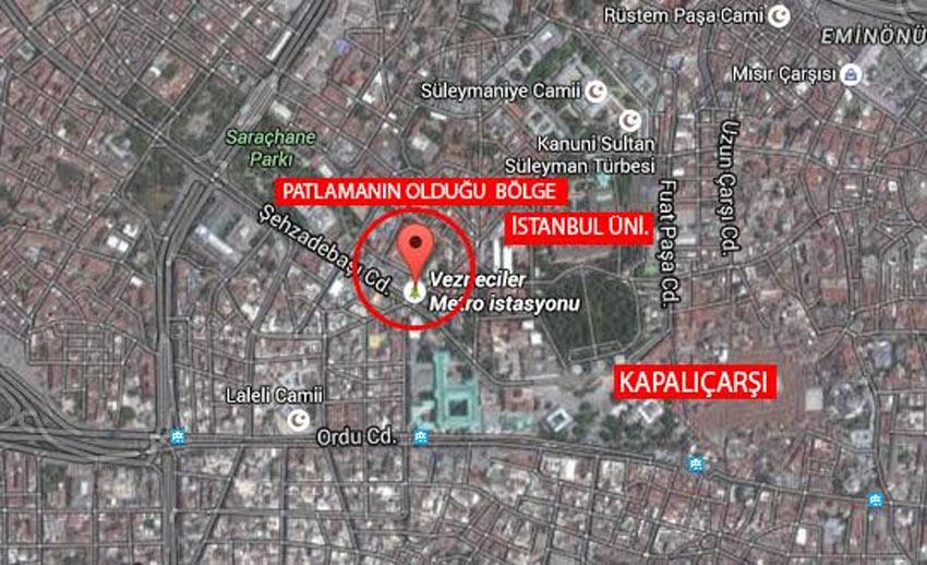 İşte saldırının meydana geldiği yerin haritası