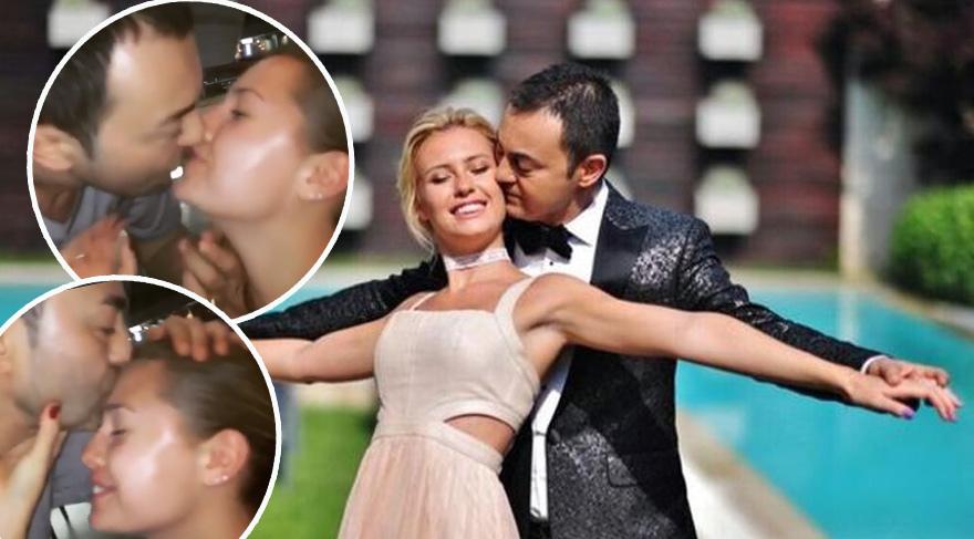 Serdar Ortaç eşi Chloe'yi öpücüklere boğdu