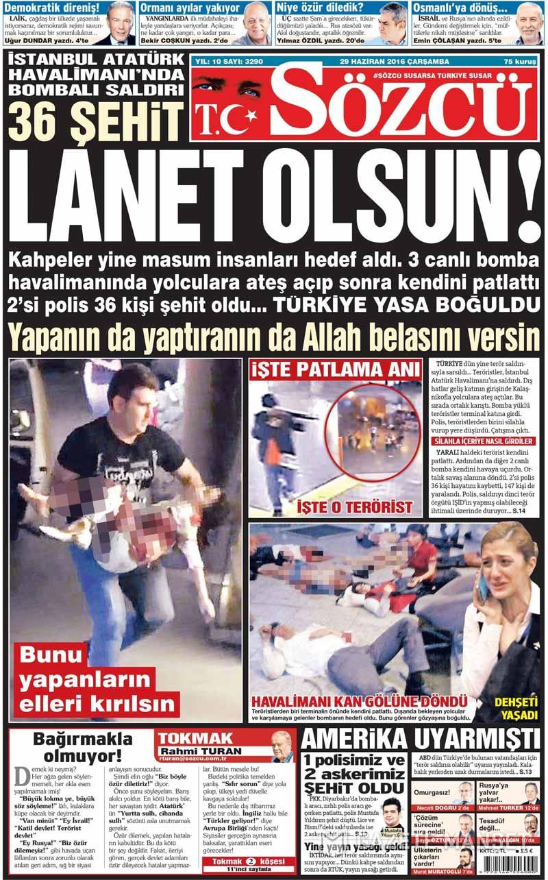 İşte Atatürk Havalimanı saldırısıyla ilgili tüm haberler 95