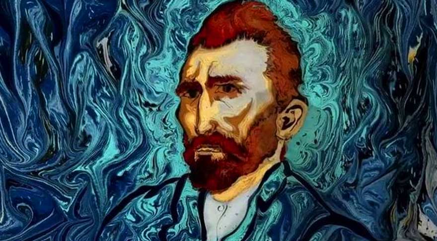 Van Gogh ebru sanatıyla buluştu