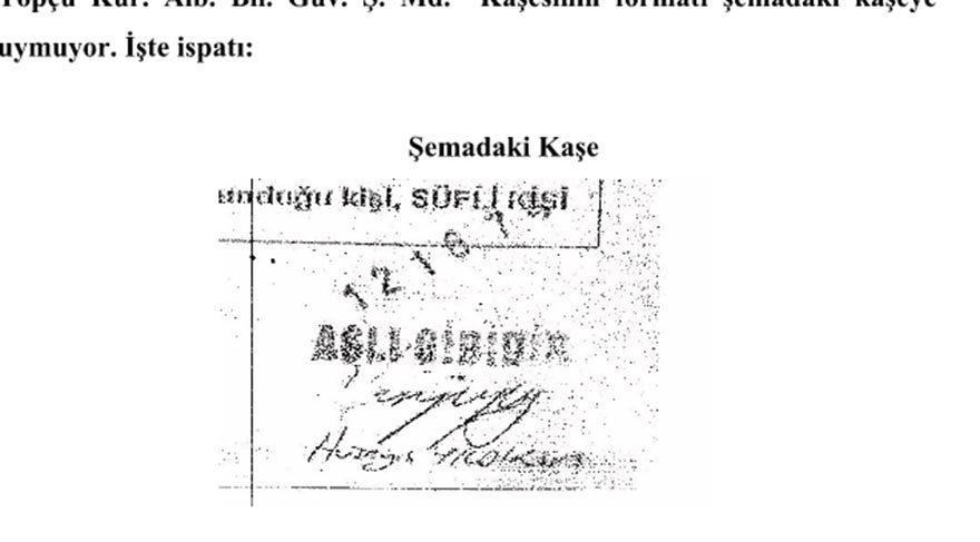 İşte kumpasın imzaları
