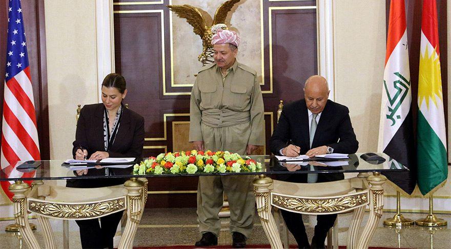 ABD ile IKBY arasında askeri işbirliği anlaşması imzalarken, Barzani'nin duruşu dikkat çekti