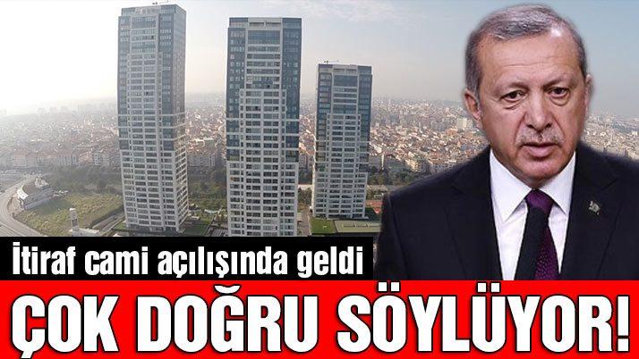 Erdoğan'dan İstanbul itirafı