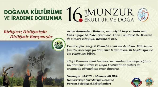 Tunceli'de Munzur Kültür ve Doğa Festivali, müziksiz ve eğlencesiz yapılacak