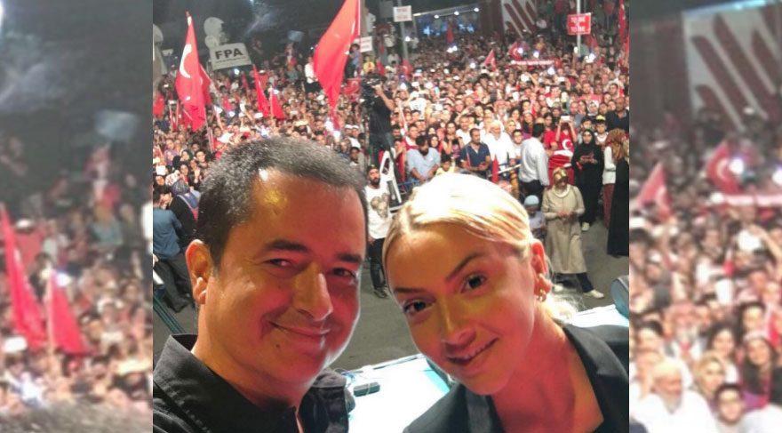Acun Ilıcalı Kısıklı Meydan'da Hadise ile selfie çekti