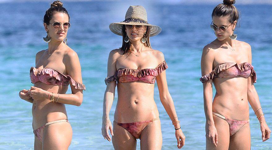 Alessandra Ambrosio'nun süper seksi tatil stili