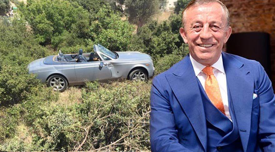 Ali Ağaoğlu'nun Rolls Royce'u uçuruma uçtu