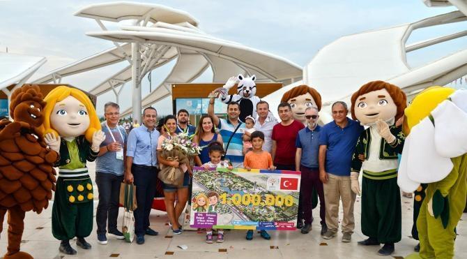 Expo 1 milyonuncu ziyaretçisini ağırladı