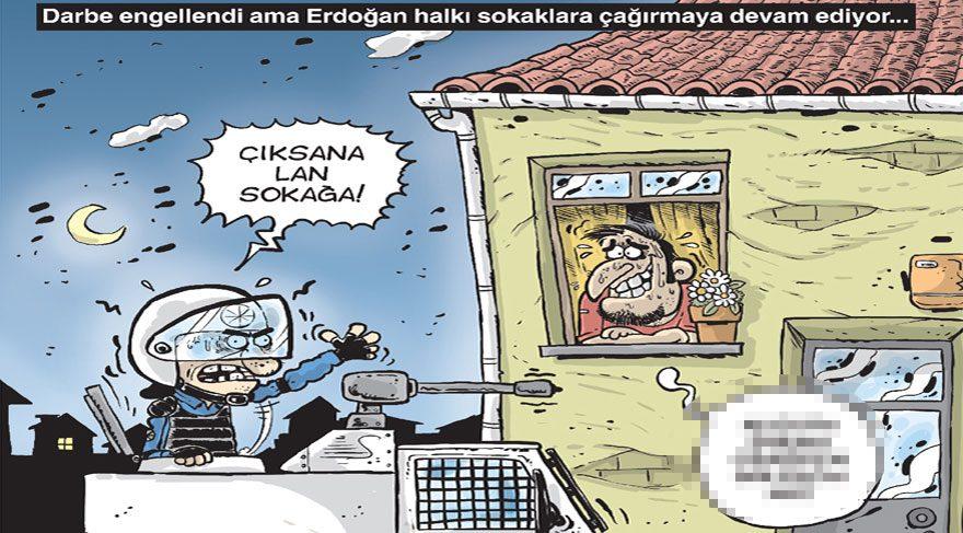 Gırgır'ın kapağında darbe girişimi sonrasındaki Türkiye var