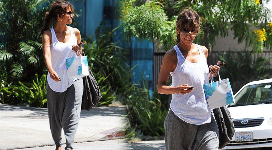 Halle Berry şalvar giydi