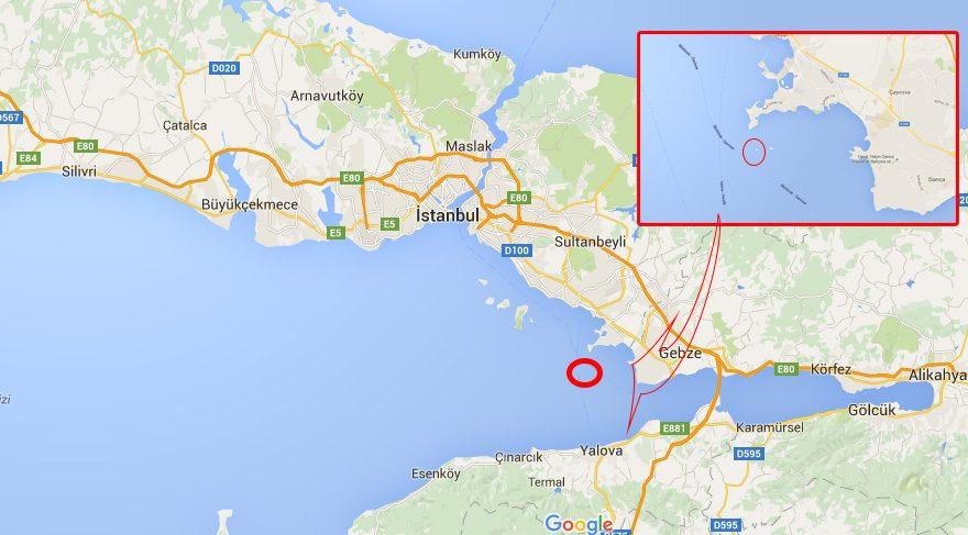 Hayırsız Adası, İmralı'ya birkaç mil uzaklıkta bulunuyor.