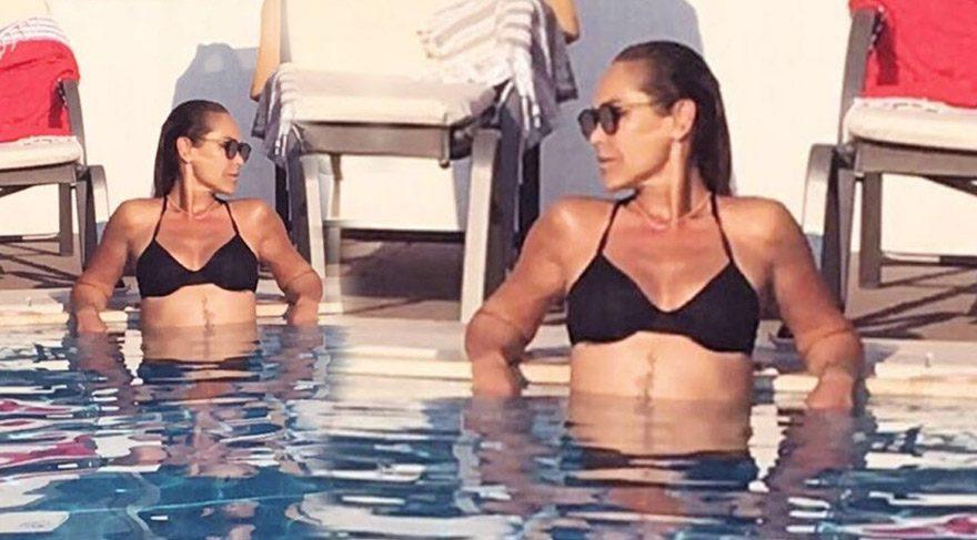 Hülya Avşar'dan bikinili paylaşım