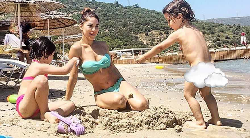 Irmak Ünal çocuklarıyla birlikte eğlendi