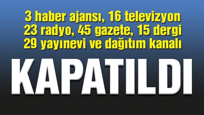 Radyo, TV ve gazetelere kilit!
