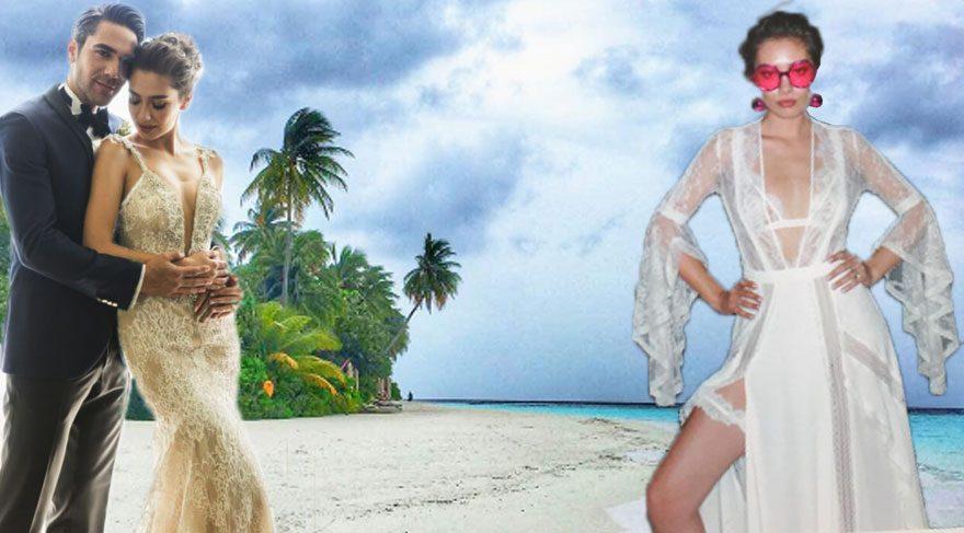 Kadir Doğulu ve Neslihan Atagül balayı için Maldivler'de!