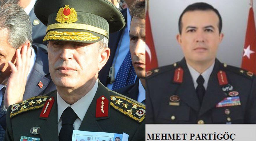 Akar'ı Gülen'le görüştürmek isteyen darbecinin Tuğgeneral Mehmet Partigöç olduğu öğrenildi.