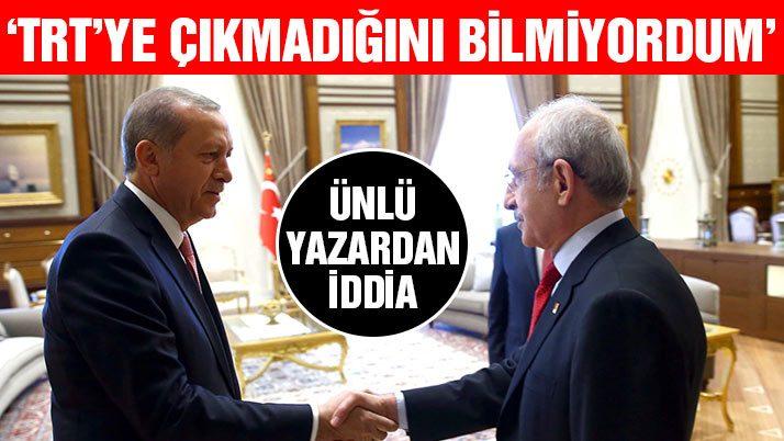 'Ben senin TRT'ye çıkmadığını bilmiyordum' iddiası