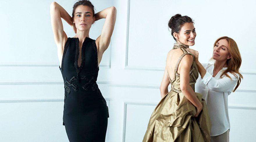 Saadet Işıl Aksoy Dilek Hanif için modellik yaptı