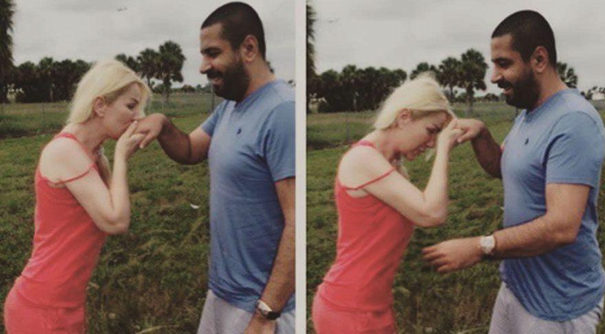 Seda Sayan, sevgilisi Erkan Çelik'in elini öperek bayramlaştı
