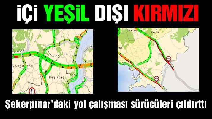 Son dakika haberleri: İstanbul'dan çıkışta yol çalışması trafiği durma noktasına getirdi
