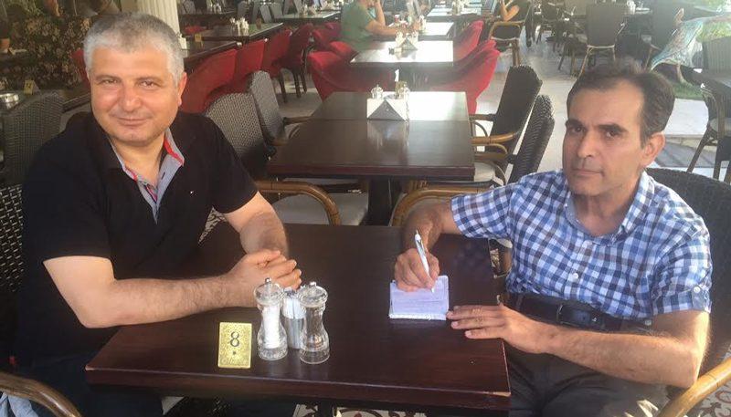 FOTO:SÖZCü- MHP Adana milletvekili Seyfettin Yılmaz, (solda) Sözcü muhabiri Kamil Elibol'un sorularını yanıtladı.