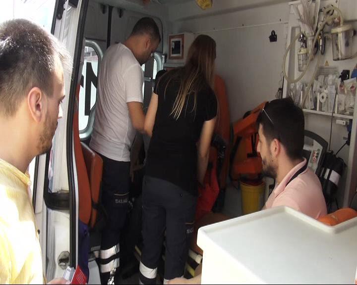 FOTO:DHA - Kazada 4 kişi yaralandı.