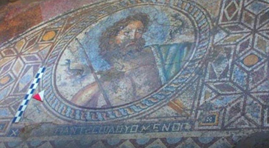 Adana'da 'Poseidon' tasvirli mozaik bulundu