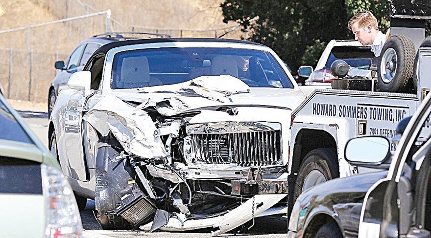Kardashian'ları korkutan kaza