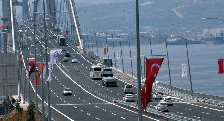 Osmangazi Köprüsü'nden günde 13 bin araç geçiyor