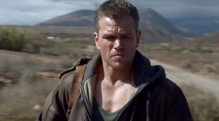 Matt Damon epey yaşlanmış Jason Bourne rolünde.