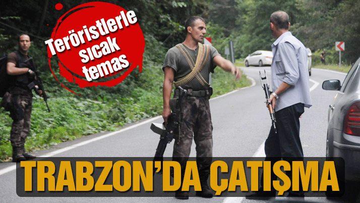 Maçka'da silahlı çatışma: 1 polis yaralı