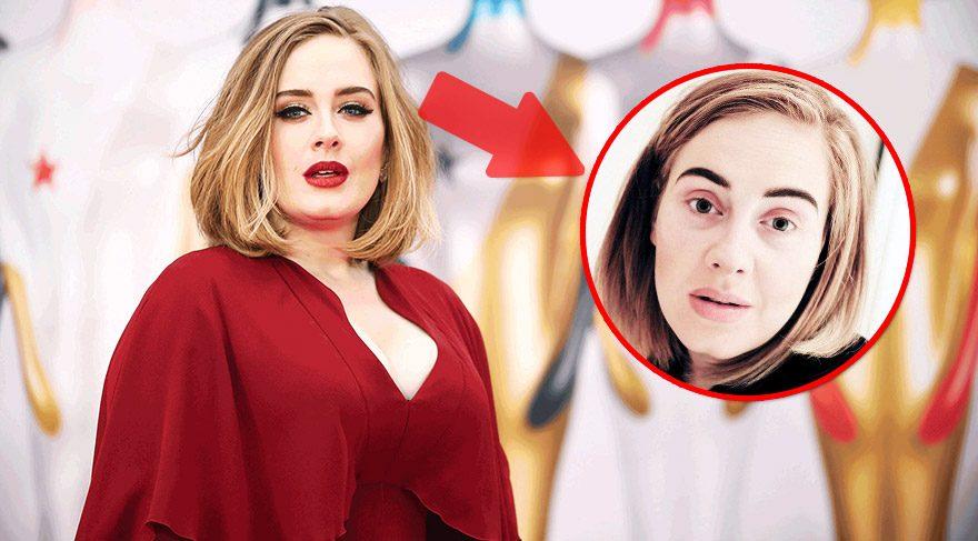 Adele'den makyajsız selfie