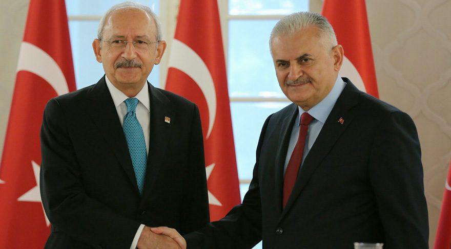 Başbakan ile CHP Lideri arasında sürpriz görüşme