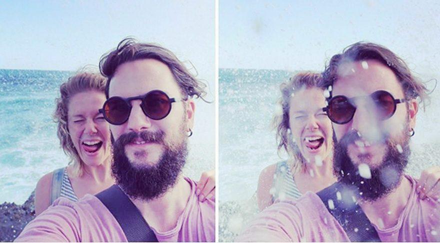 Burcu Biricik'ten keyifli bir selfie