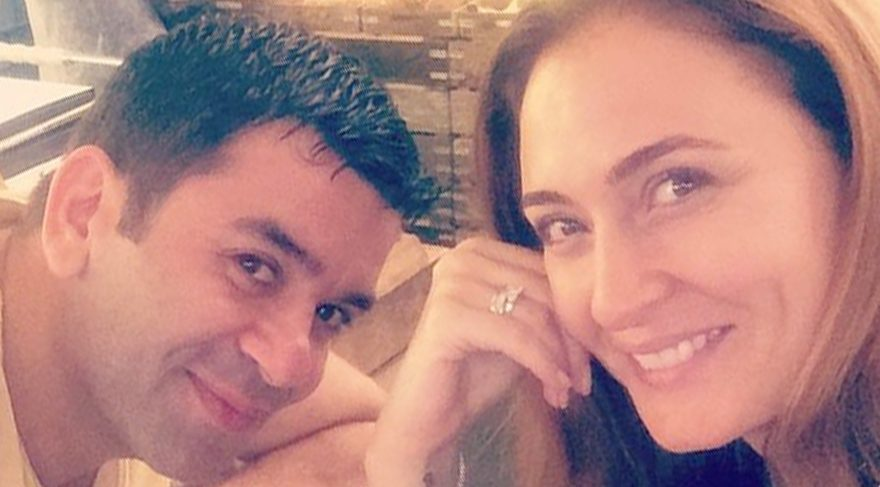 Ceyda Düvenci, kocası Bülent Şakrak'ın doğum gününü kutladı