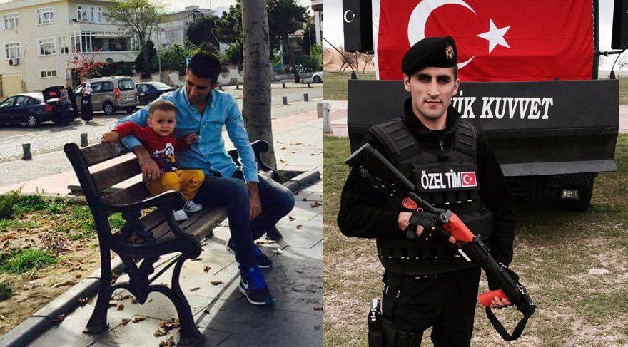 Şehit polisin 2 yaşındaki oğlu Berkay Maytalman'ın ise bugün doğum günüydü.