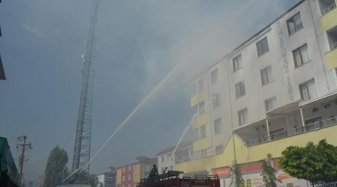 Yangına TOMA müdahalesine DBP'li başkandan teşekkür