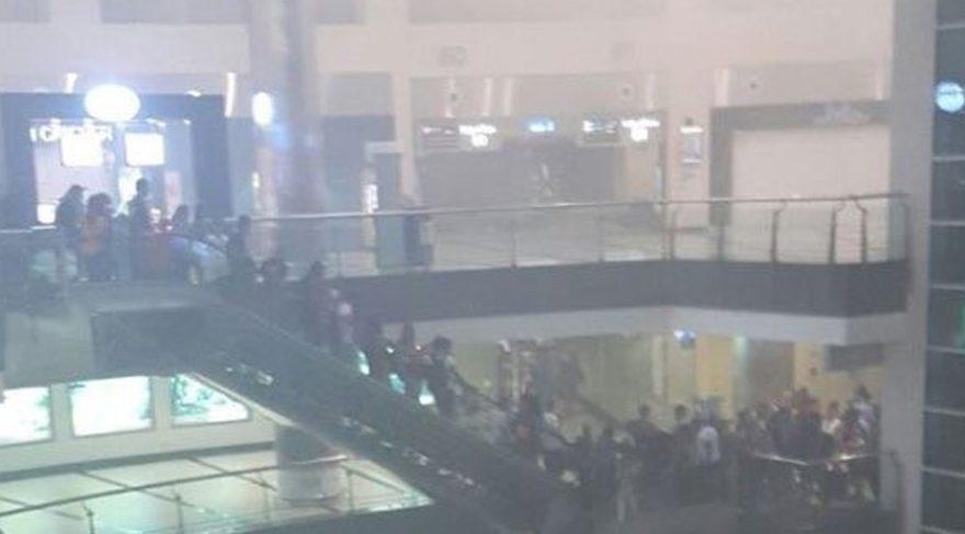 Antalya Havalimanı'ndaki yangın paniği