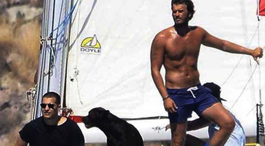 Kıvanç Tatlıtuğ Çağatay Ulusoy'u teknesinde ağırladı