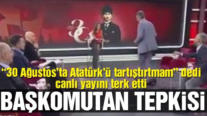 Emekli Tümamiral Semih Çetin canlı yayını terk etti