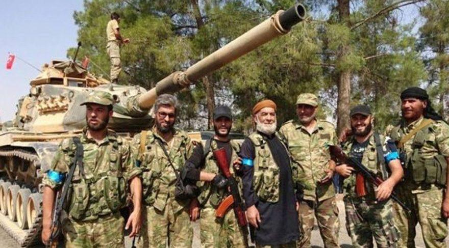 FOTO: ÖSO'daki Arap kökenli askerler kırmızı bant taktı.