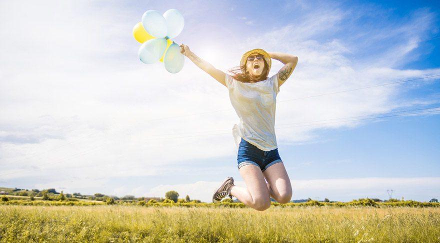 Hayatın pozitif yanlarını görün ve mutlu olun!
