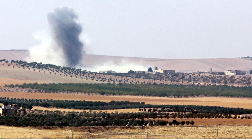 TSK, Cerablus'un güneyinde YPG'yi vurdu