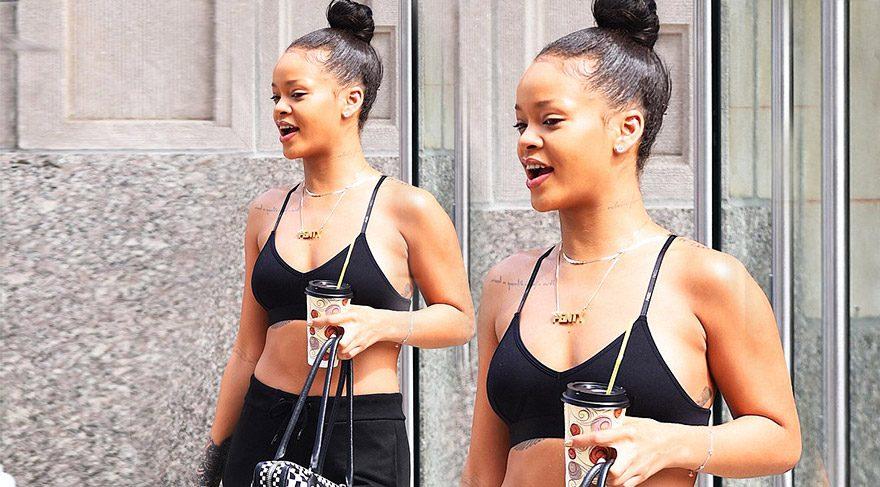 Rihanna makyajsız görüntülendi