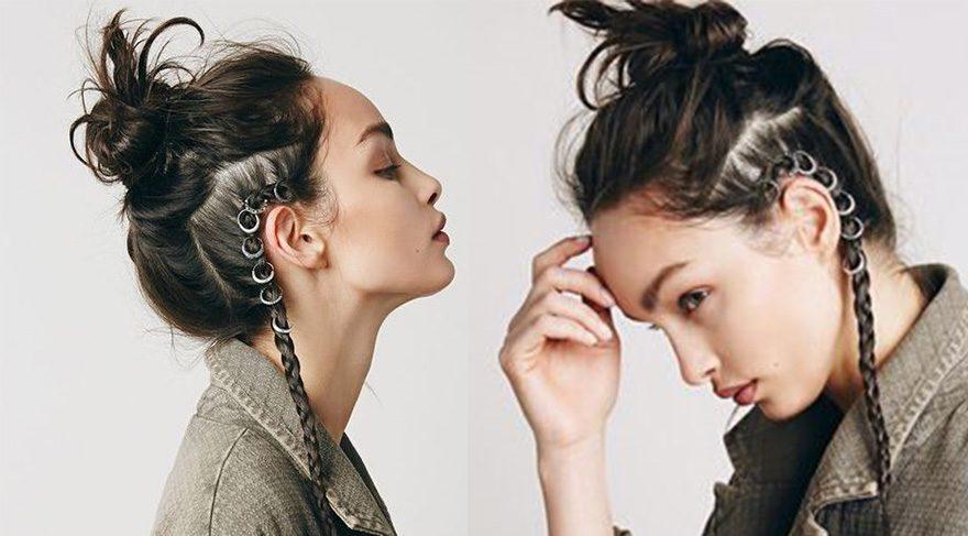 Yeni moda saç küpeleri