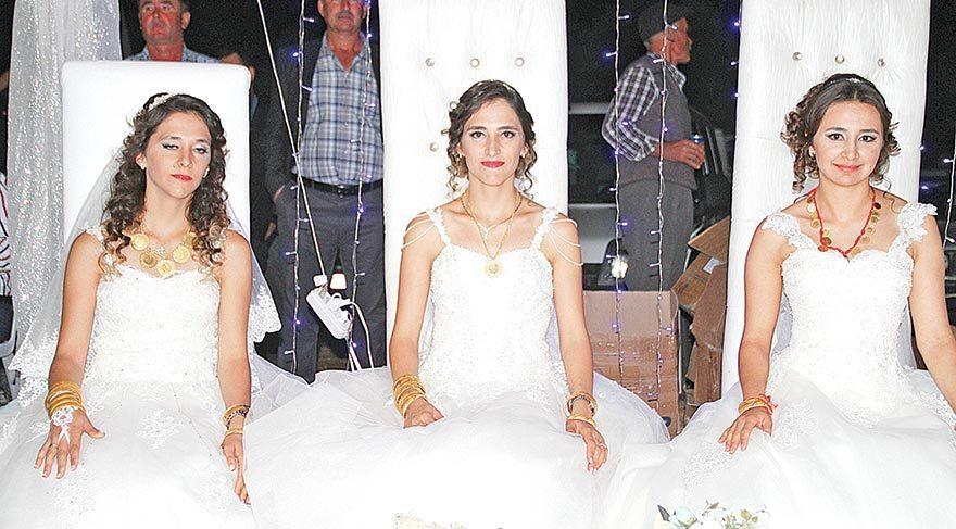 Üç kardeşe tek düğün