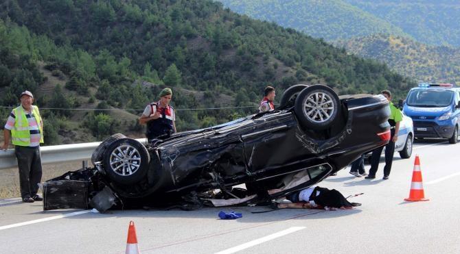 Kastamonu'da otomobil takla attı: 1 ölü, 3 yaralı