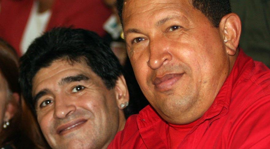 Chavez (önde) ve Maradona tedavi için Küba'yı seçti...  Kanser aşısını bulan Doktorun maaşı 20 dolar kanser aşısı ise 1 dolar 4 62